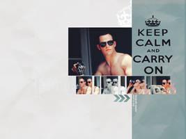Chris Pine KeepCalmAndCarryOn by gabiellalili