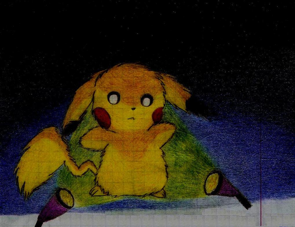 Pikachu in the light by Nejti