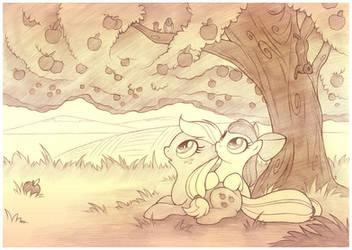 Mother Tree Sketch by sherwoodwhisper