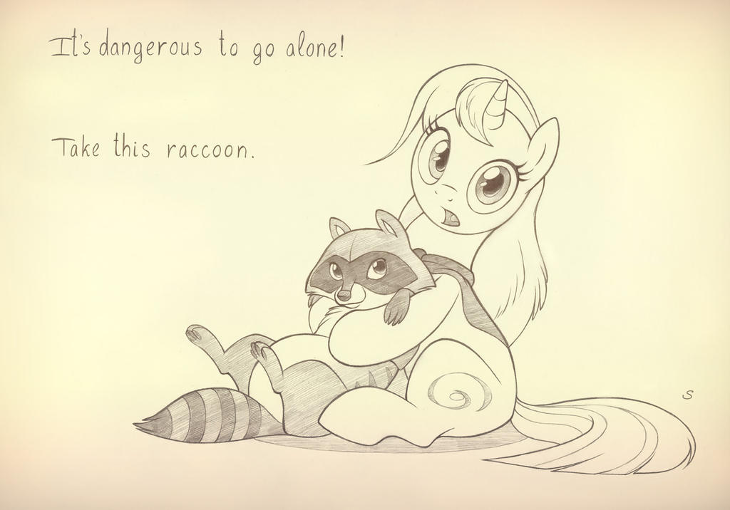 Take this raccoon by sherwoodwhisper