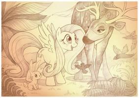 Oh Deer Fluttershy by sherwoodwhisper