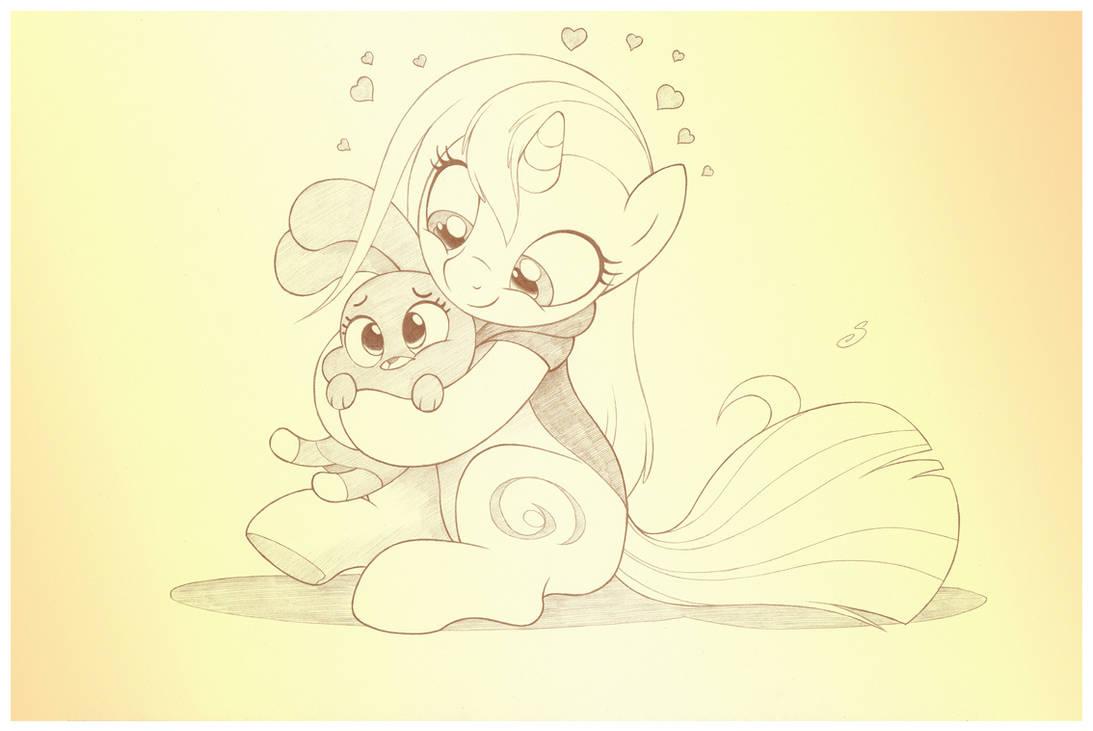 Bunny Hugs by sherwoodwhisper