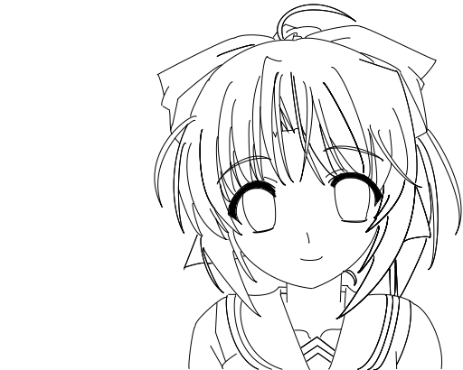 Anime Girl Lineart 2 By X Lacrymosa On Deviantart