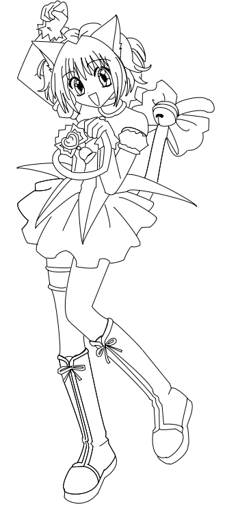 ichigo line art by x lacrymosa on deviantart tokyo mew coloring pages google search