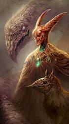 Fantasy Self Portrait by mysticaldonkey1