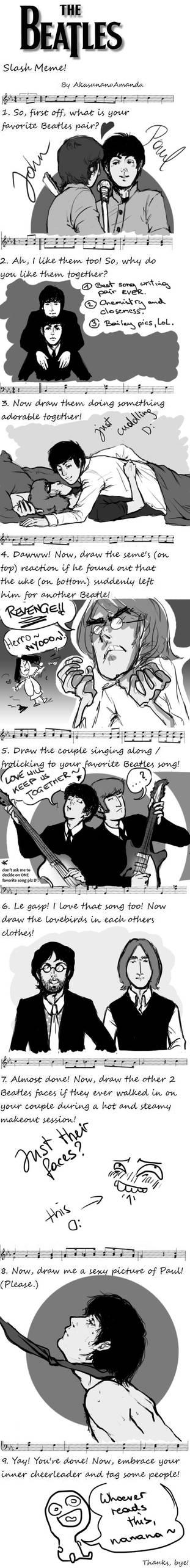 Beatles SLASH Meme