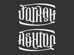 FARRAH ASHTON Ambigram Tattoo