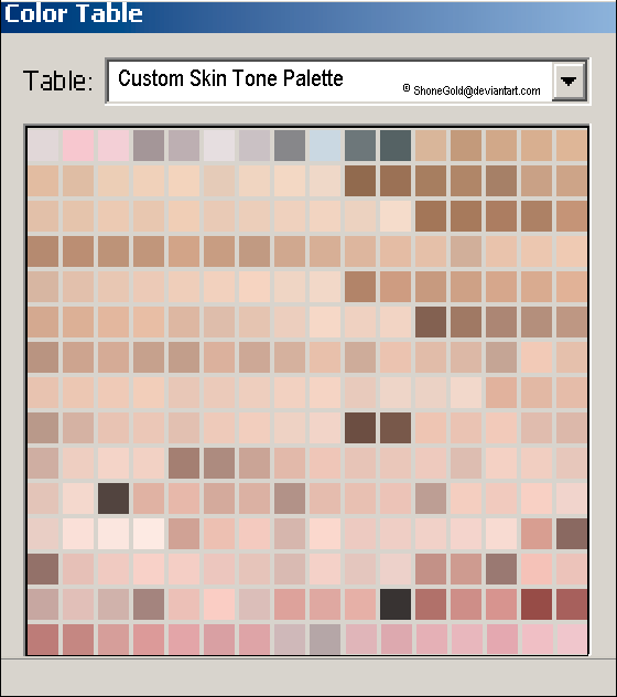 Custom Skin Tone Palette By Shonegold On Deviantart