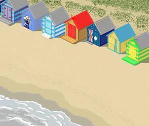 Bathing Boxes Brighton Beach by ShoneGold