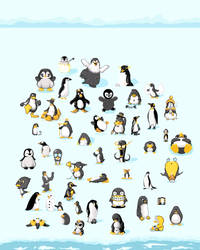 Penguin Parade Collaboration by ShoneGold