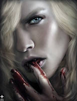 Lestat Licks Blood by OmriKoresh