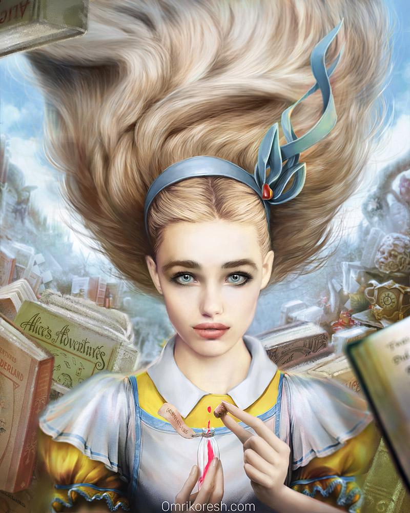Alice in Wonderland, Portrait