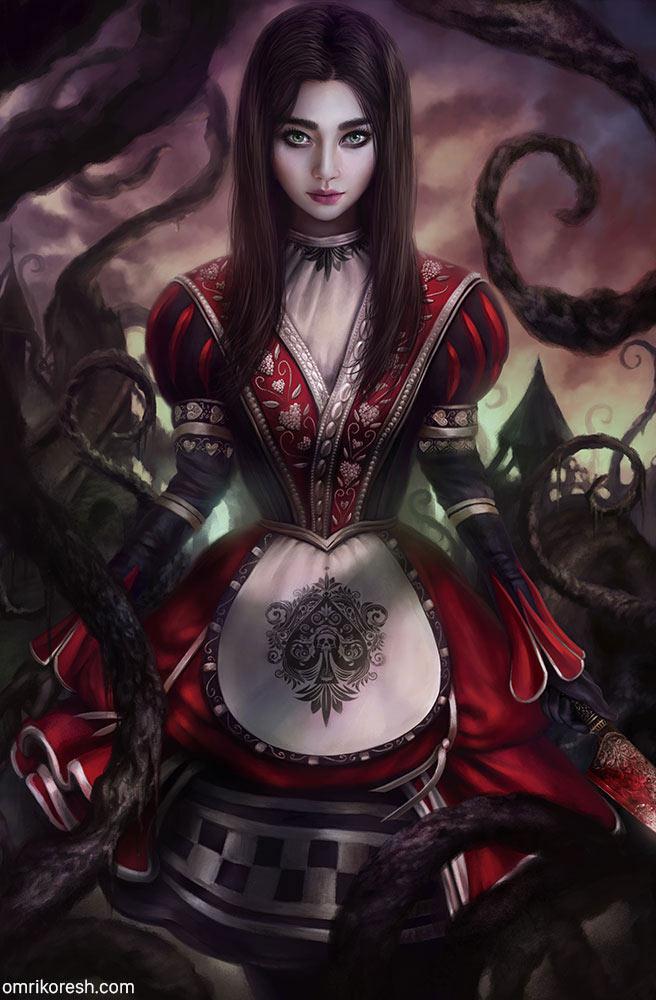 Alice Asylum: AngelaBaby as Alice by OmriKoresh