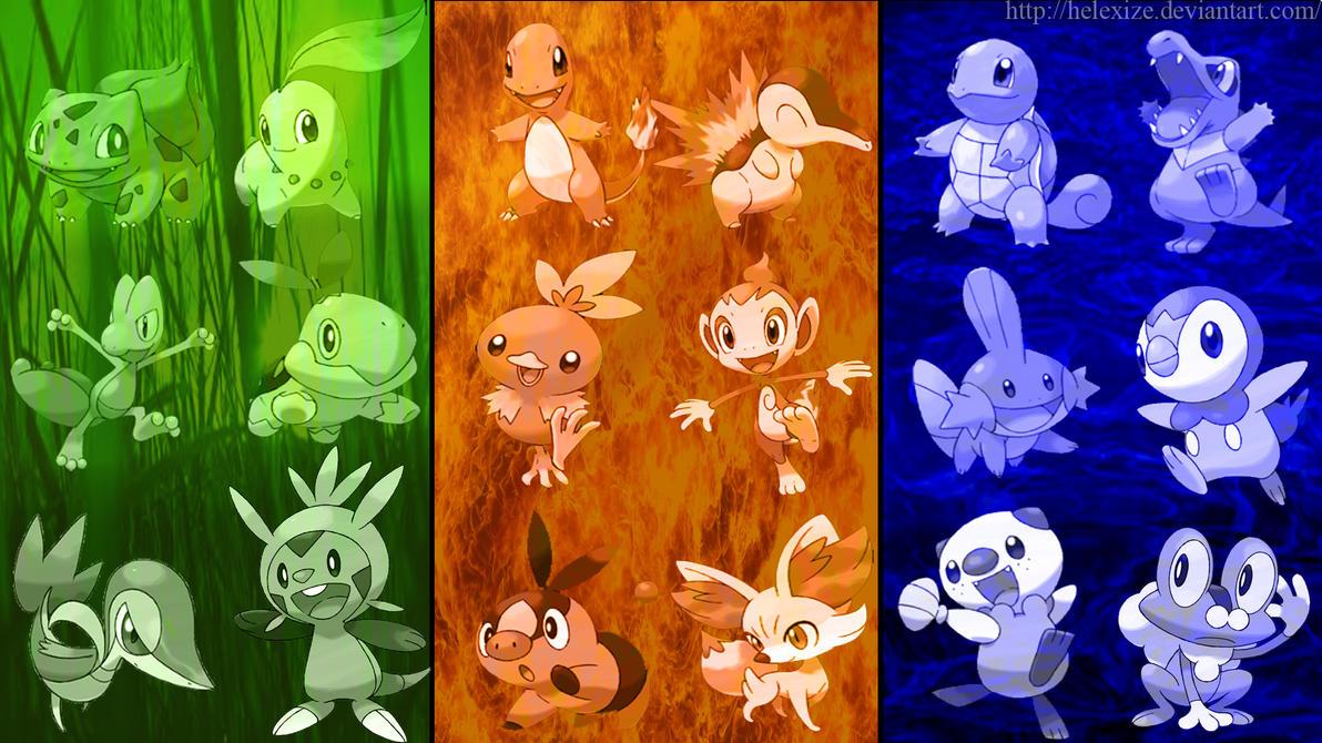 pokemon all starter pokemon 1-6
