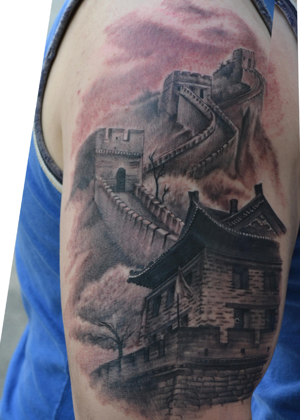 Great wall of china tattoo by jamiemhenderson on deviantart for Wall e tattoo
