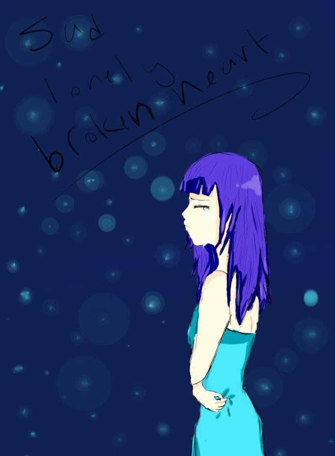 Sad Lonely Broken heart by Susano-Chan on DeviantArt
