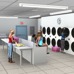 R-World:  Late Night at the Laundromat by DonKevinMartin