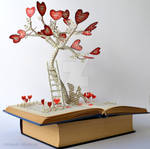 Tree of Love Book Sculpture