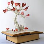 Tree of Love Book Sculpture