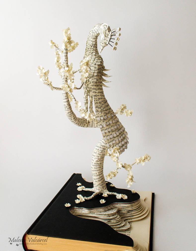 Fragile - Book Sculpture by MalenaValcarcel