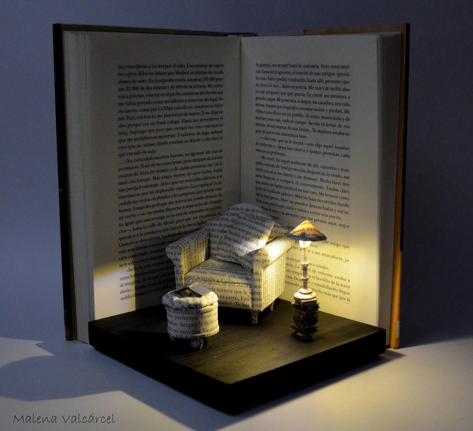 Diorama - Great Comfort - Book Art by MalenaValcarcel