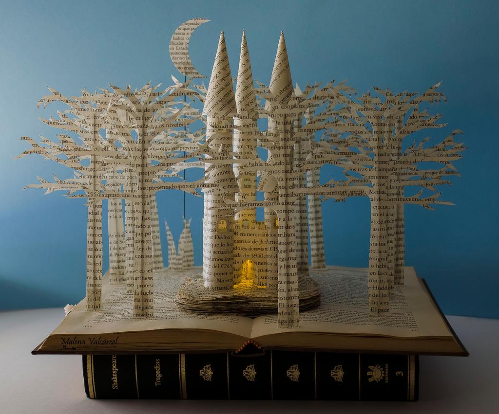 Fairytale Castle Book Sculpture By MalenaValcarcel On