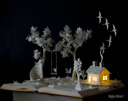 Dont ever go Book Sculpture