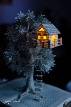 Treehouse - Book Sculpture