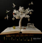 The Tree of Knowledge - Book Sculpture