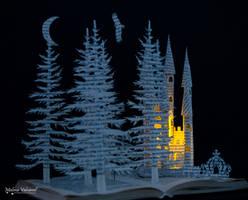 Fairytale Castle - Book Scultpture by MalenaValcarcel