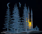 Fairytale Castle - Book Scultpture
