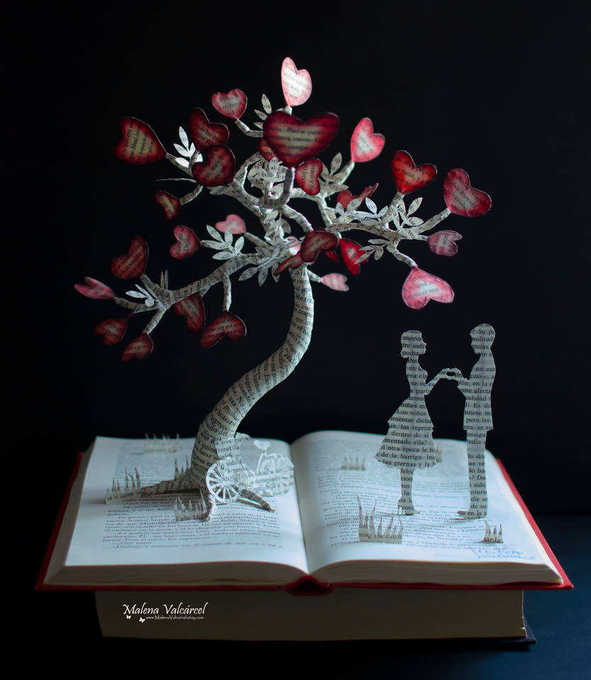 The Tree of Love - Book Sculpture by MalenaValcarcel