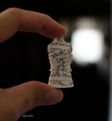 Tiny Paper Mannequin embellished