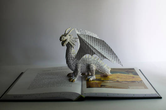 Dragon - Book Sculpture