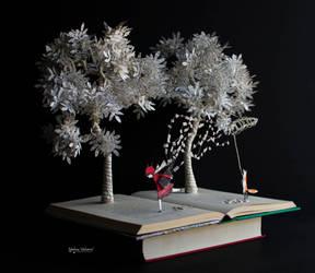 Catching Dreams - Book Sculpture