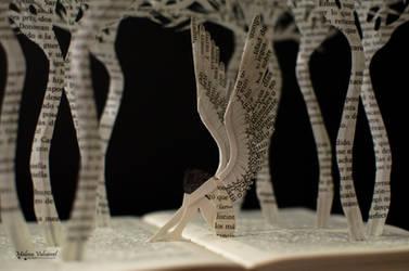 Altered Book A fallen angel