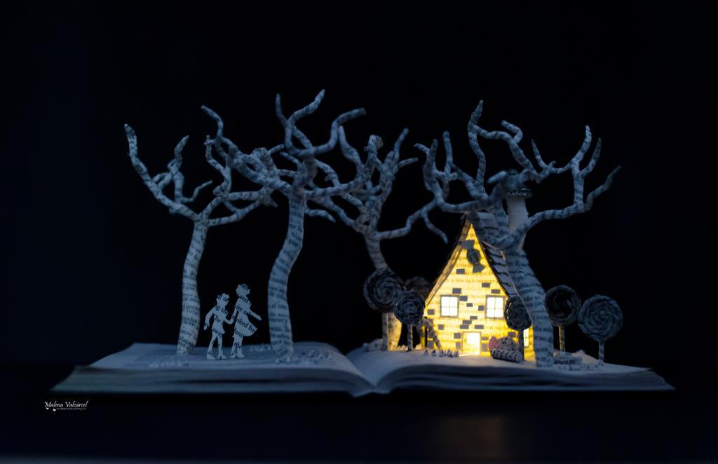 Hansel and Gretel Book Sculpture