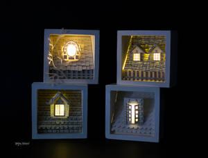 Diorama - RoofTops Paper Art