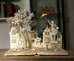 Mary Poppins Book Sculpture