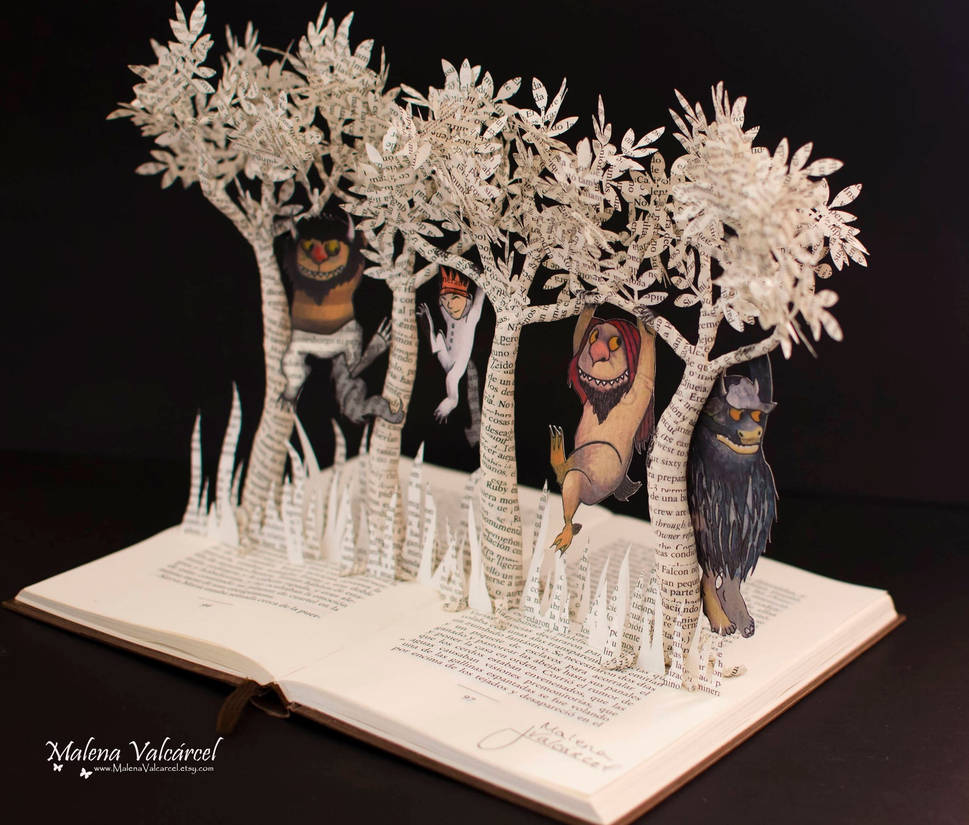 Where The Wild Things Are - Book Sculpture