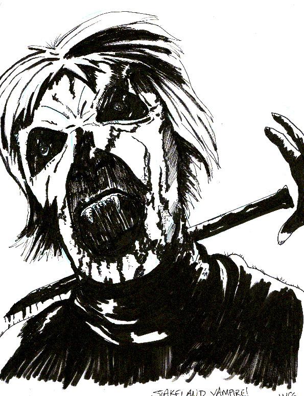 Stakeland movie illustration by WesleyCraigGreen