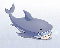 Shark Cirno by sunimu