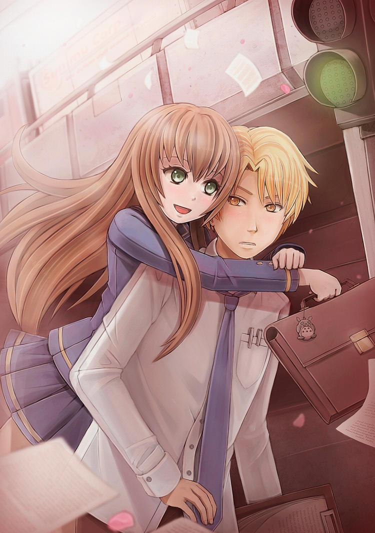 Surprise hug by sunimu on deviantart - Anime hug pics ...