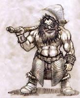 Dwarven Berserker by zacdac