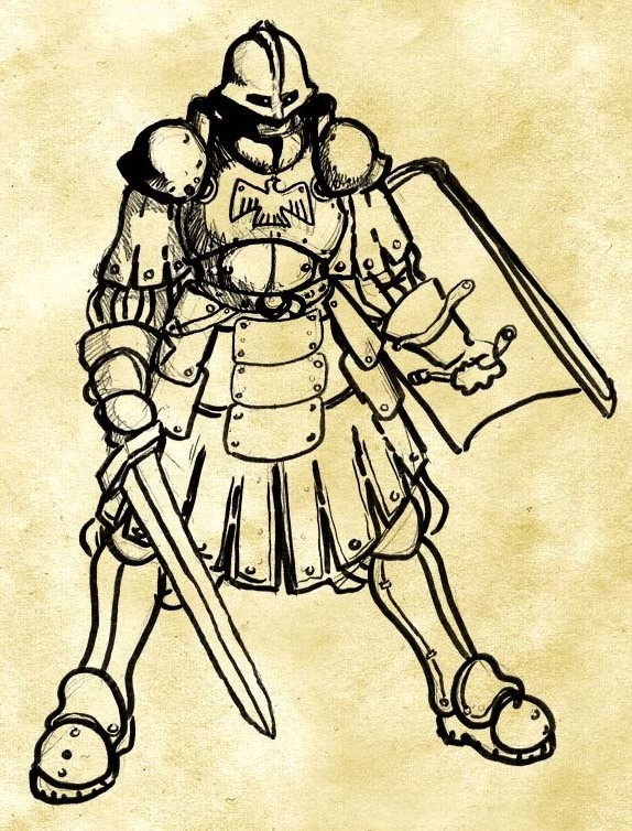 Holy Imperial Soldier Sketch By Zacdac On Deviantart