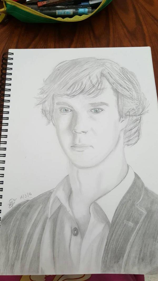 Sherlock Portrait Sketch by 2012MAMA
