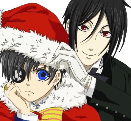Ciel and Sebastian - Merry Christmas by DudnxJC