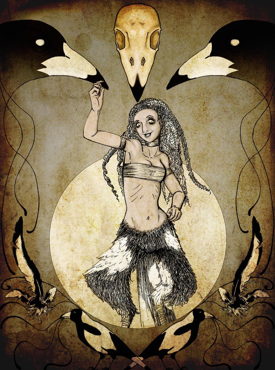 Sidney-The Magpie Demon by amurderofcrowws