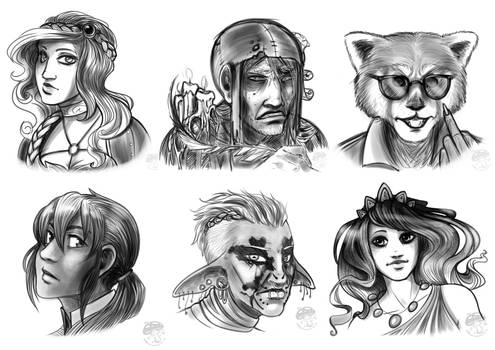 COMM: September 2019 - Bust Sketches