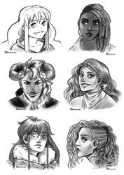 COMM: Bust Sketches-May 2020
